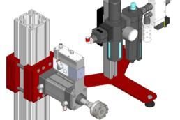 Kit montaggio attuatore pneumatico
